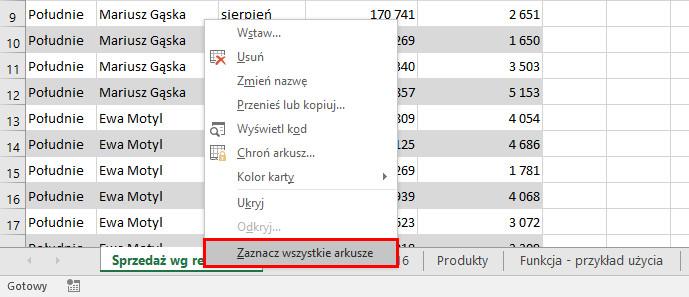 Excel - Kopiowanie ustawień drukowania