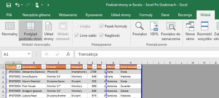 Podział Strony W Excelu Czyli Jak Zapanować Nad Wydrukiem
