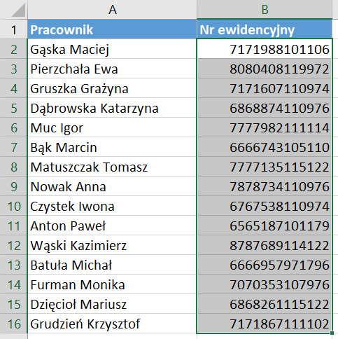 Jak zamienić tekst na liczby w Excelu