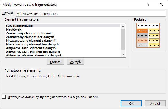 Jak zmienić czcionkę we fragmentatorze?